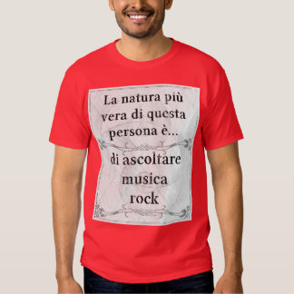 Natura più vera: ascoltare musica rock t-shirts