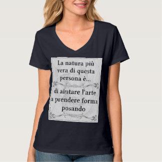 Natura più vera: posare modello modella arte T-Shirt