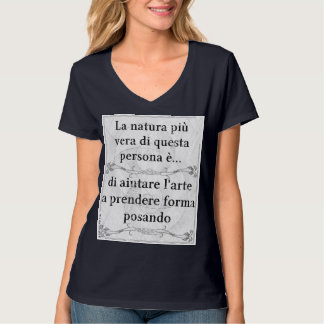 Natura più vera: posare modello modella arte t-shirts