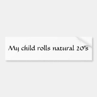 Natural 20 child sticker