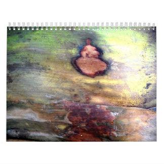 Natural Abstract On Bark Calendars