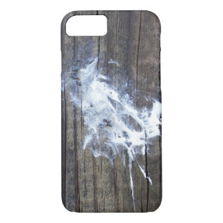 Natural Art Bird Poop Droppings on Wood iPhone 8/7 Case