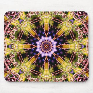 Natural Atom Mandala Mouse Mat