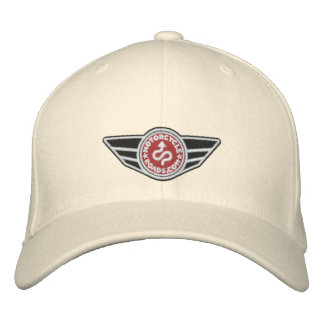 Natural ball-cap with red embroidered MCR logo Embroidered Hat