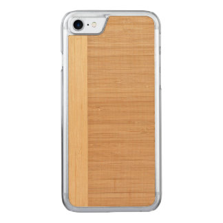 Natural Bamboo Border Wood Grain Look Carved iPhone 7 Case