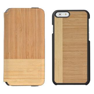 Natural Bamboo Border Wood Grain Look Incipio Watson™ iPhone 6 Wallet Case