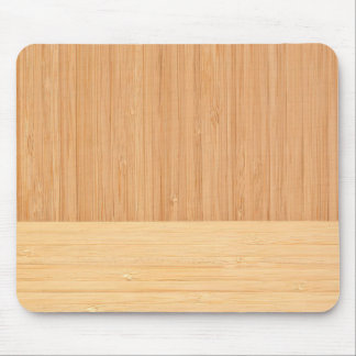 Natural Bamboo Border Wood Grain Look Mouse Mat