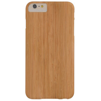 Natural Bamboo Wood Grain Look Barely There iPhone 6 Plus Case
