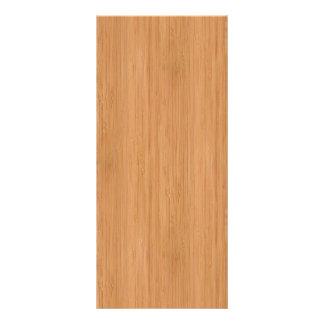 Natural Bamboo Wood Grain Look Full Color Rack Card