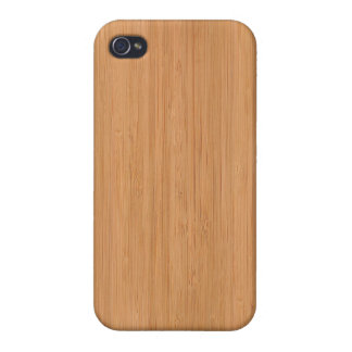Natural Bamboo Wood Grain Look iPhone 4/4S Cases