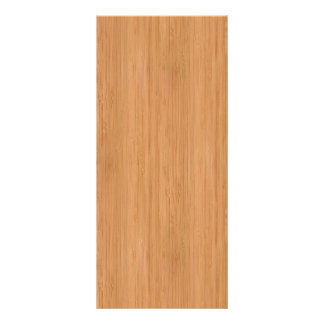 Natural Bamboo Wood Grain Look Full Color Rack Card
