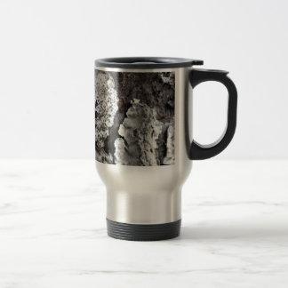 Natural Bark Stainless Steel Travel Mug