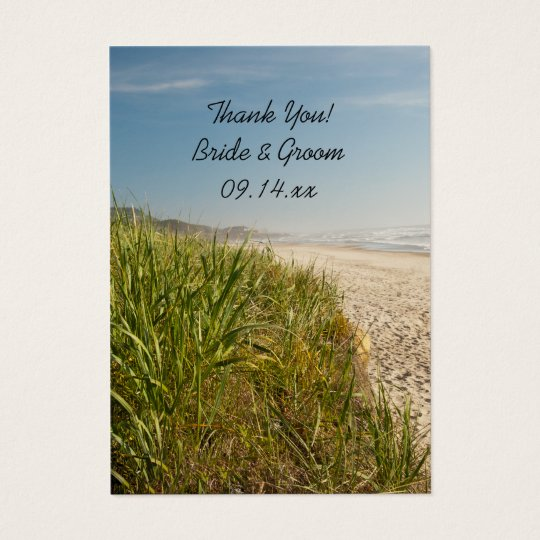 Natural Beach Wedding Thank You Favour Tags