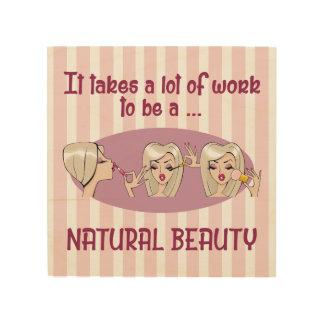 "Natural Beauty Blonde 8""x8"" Wood Wall Art"