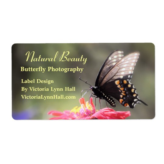 Natural Beauty Butterfly Shipping Label