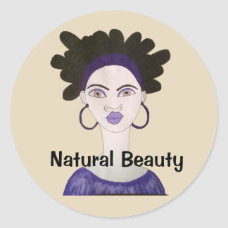 Natural Beauty Classic Round Sticker