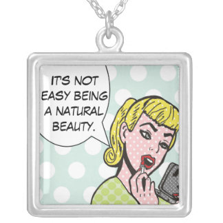 Natural Beauty Comic Book Necklace