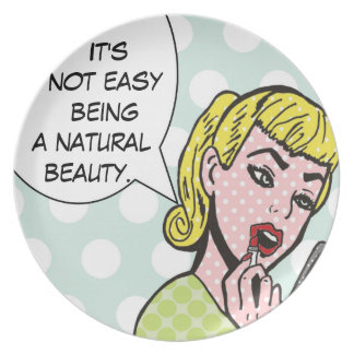 Natural Beauty Comic Book Plate