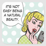Natural Beauty Comic Book Stickers