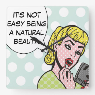 Natural Beauty Comic Book Wall Clock