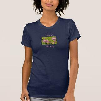 Natural, Beauty Floral V-Neck T-Shirt