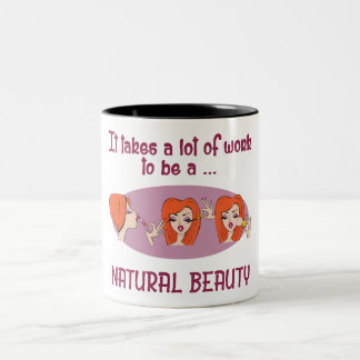 Natural Beauty Redhead 11 oz Two-Tone Mug