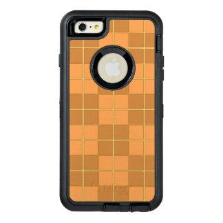 Natural beiges tiles vector design in squares OtterBox defender iPhone case