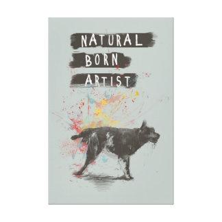natural born artist canvas print