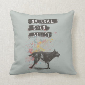 natural born artist throw pillow