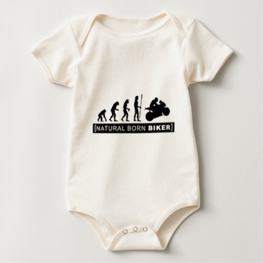 Natural born biker baby bodysuit