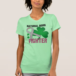 Natural Born Fighter St Patricks Day Breast Cancer Shirts