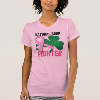Natural Born Fighter St Patricks Day Breast Cancer Shirt