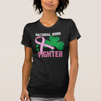 Natural Born Fighter St Patricks Day Breast Cancer Tshirts