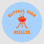 Natural Born Griller Products Round Stickers