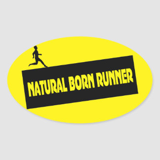Natural Born Runner - Funny Running Stickers