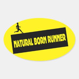 Natural Born Runner - Funny Running Stickers