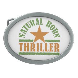 Natural Born Thriller custom belt buckle
