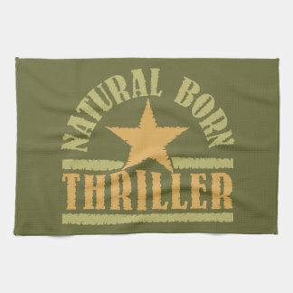 Natural Born Thriller custom kitchen towel