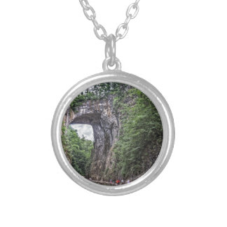 Natural Bridge Silver Plated Necklace
