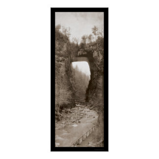 Natural Bridge VA Photo 1909 Poster