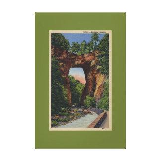 Natural Bridge Virginia Daytime Canvas Prints
