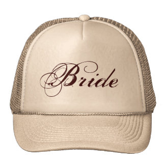 Natural brown theme Bride hat
