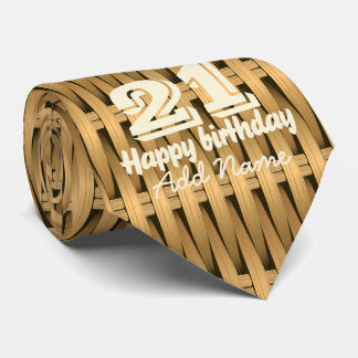 Natural cane wicker tie
