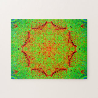 Natural Colors Star Mandala Jigsaw Puzzle
