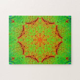 Natural Colors Star Mandala Jigsaw Puzzle
