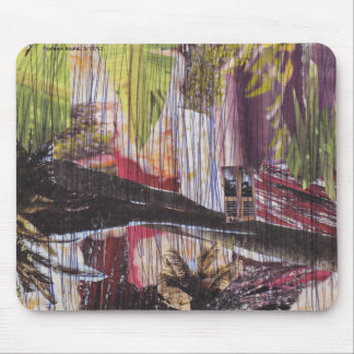 Natural disaster collage mouse mat