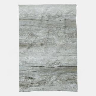 Natural Driftwood Background Tea Towel