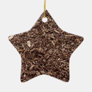 Natural earth ceramic star decoration