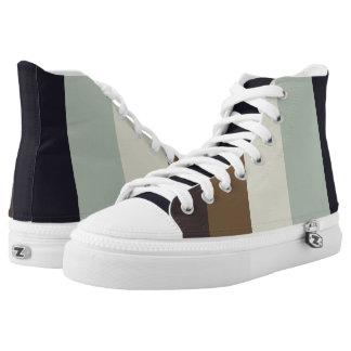 Natural elegance stripes printed shoes