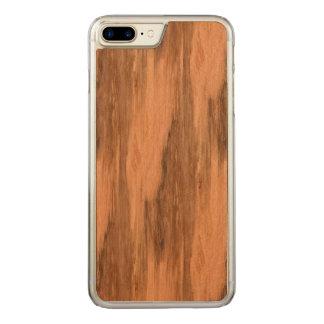 Natural Eucalyptus Wood Grain Look Carved iPhone 8 Plus/7 Plus Case